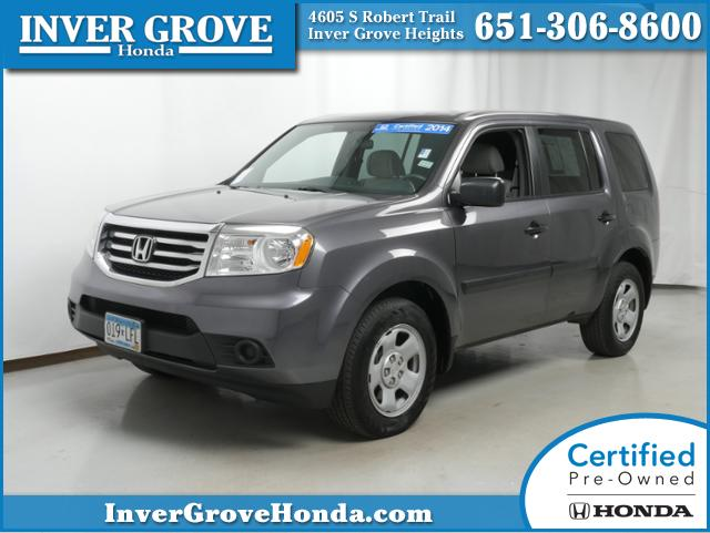 Certified pre owned 2014 honda pilot lx for sale inver for Honda used certified