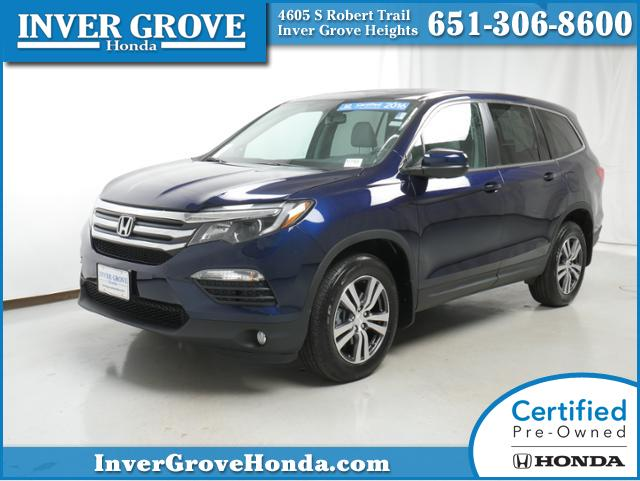 certified pre owned 2016 honda pilot ex l for sale inver grove heights mn st paul. Black Bedroom Furniture Sets. Home Design Ideas